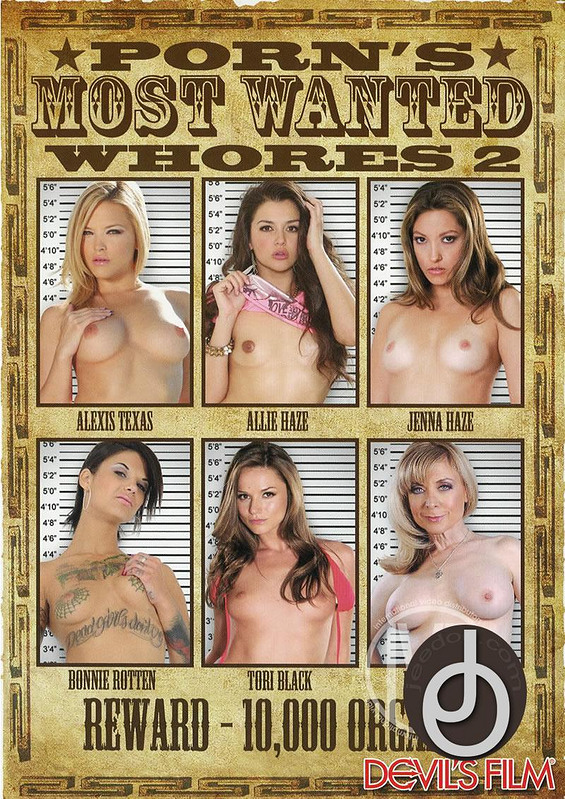 Porns Most Wanted Whores 2 DVD Image