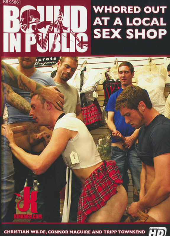 Bound In Public - Whored Out At A Local Sex Shop Gay DVD Image