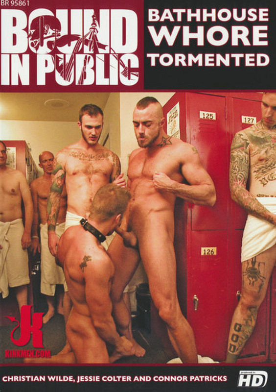 Bound In Public - Bathhouse Whore Tormented Gay DVD Image