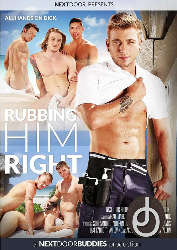 Rubbing Him Right Gay DVD Image