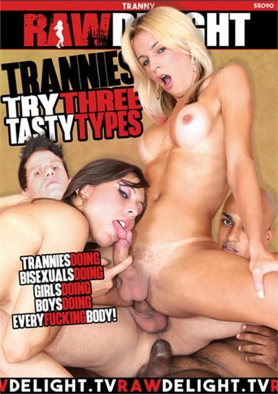 Trannies Try Three Tasty Types DVD Image